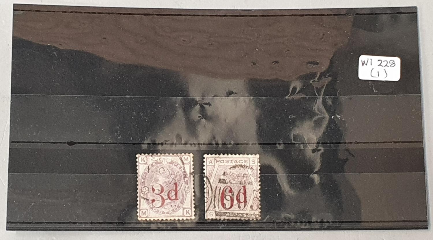 G.B.1883 S.G. 159 and 162 .3d and 6d overprint used cat £310