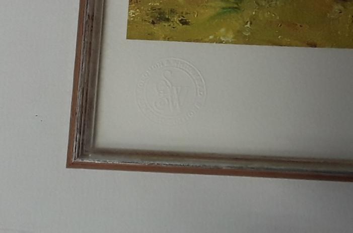 "David Shepherd ""Sunday Best"" embossed stamp Limited Edition 191/650 with COA, framed & glazed - Image 3 of 4"