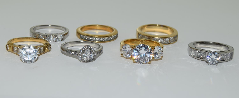 Seven ladies rings TK316 by TUSK Jewelery (New)