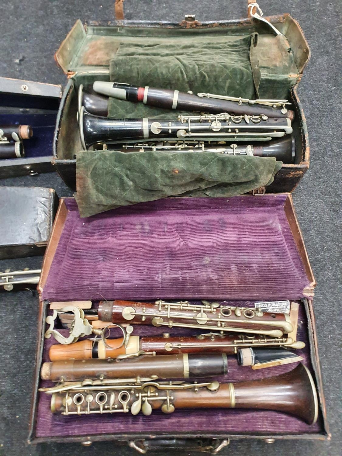 Case of vintage clarinets. - Image 5 of 6