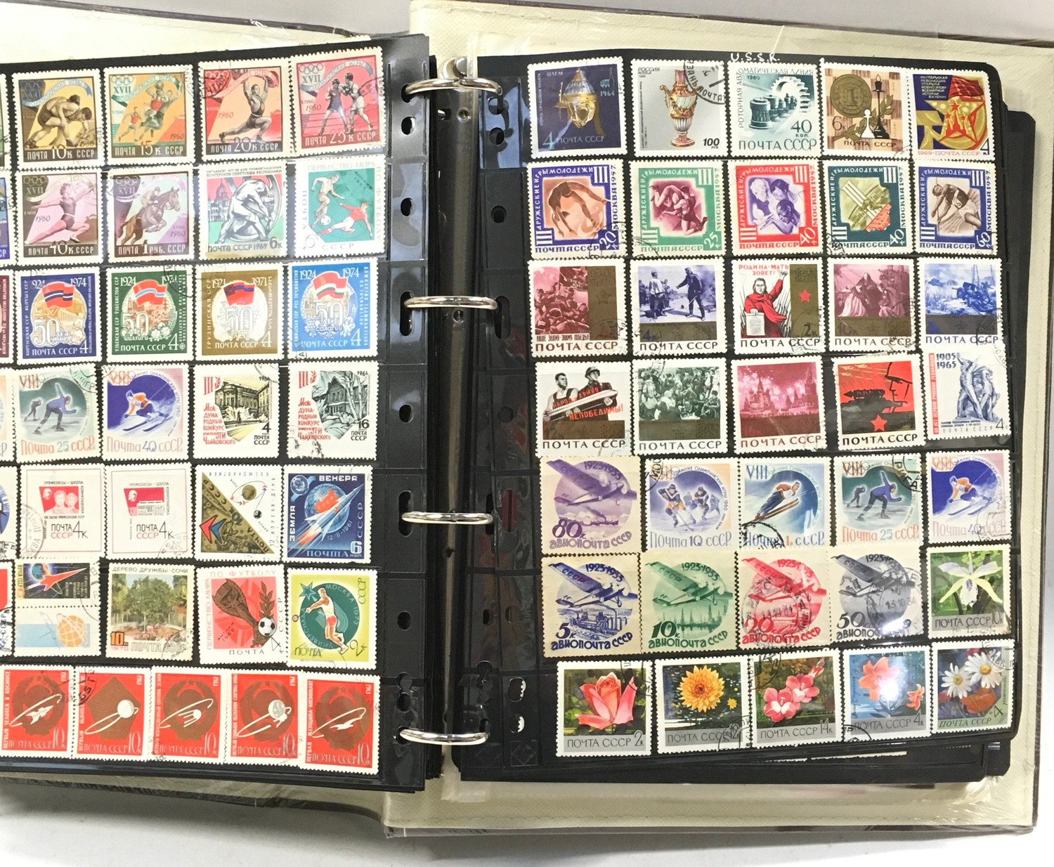An album of USSR stamps and some mini sheets
