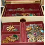 Box of nice wearable/re-sell costume jewellery.