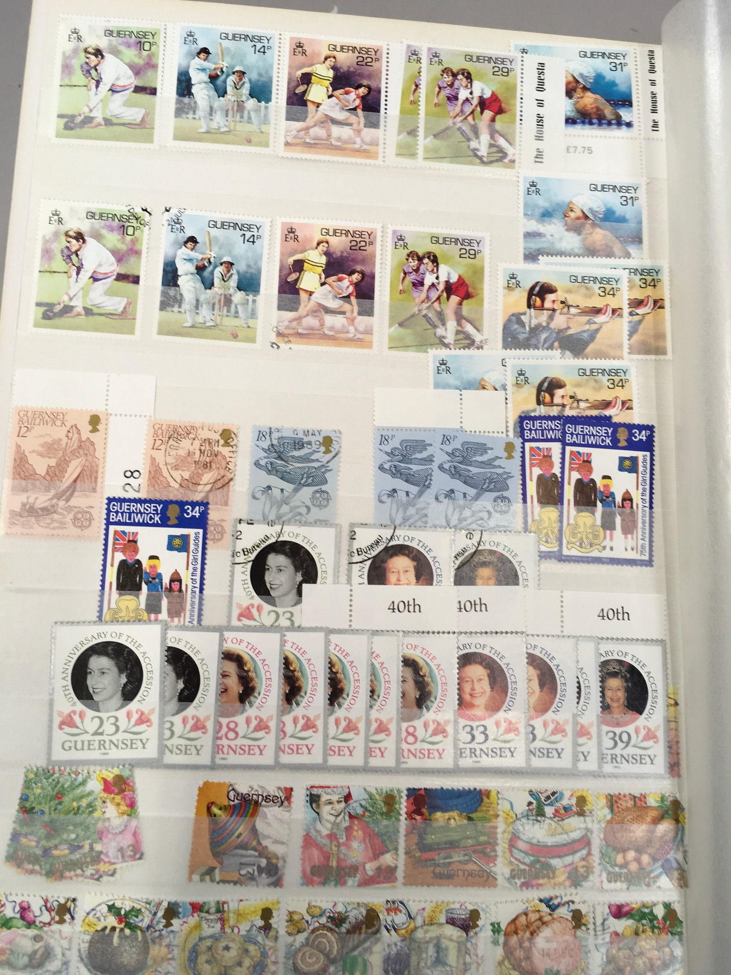 3 x Albums containing Channel Islands, Jersey Guernsey and Alderney over £800 in mint stamps. - Image 6 of 21