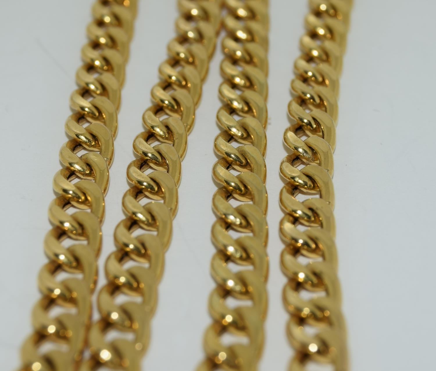 9ct gold flat link necklace 50cm long 11.5gm - Image 4 of 4