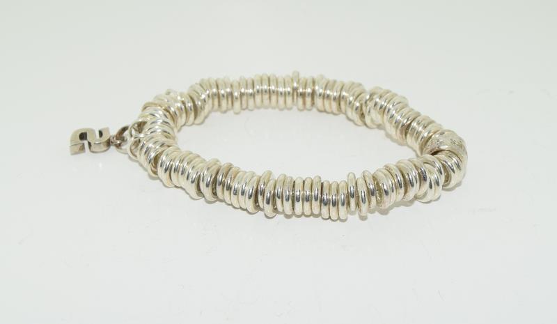 Genuine silver Links of London expanding bracelet h/m to inside ring