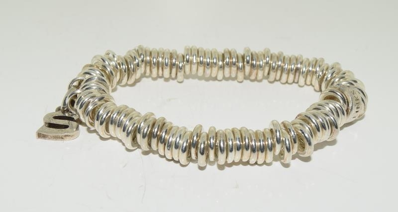 Genuine silver Links of London expanding bracelet h/m to inside ring - Image 5 of 5