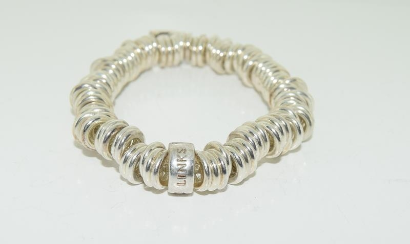 Genuine silver Links of London expanding bracelet h/m to inside ring - Image 2 of 5