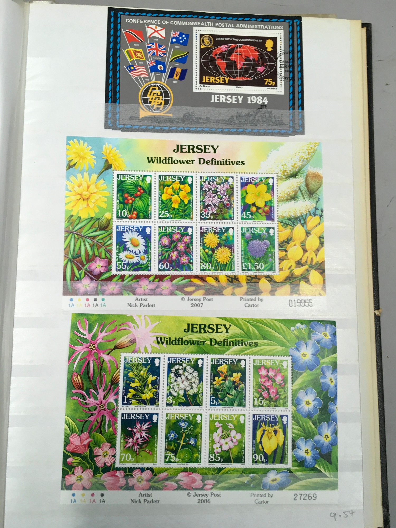 3 x Albums containing Channel Islands, Jersey Guernsey and Alderney over £800 in mint stamps. - Image 16 of 21