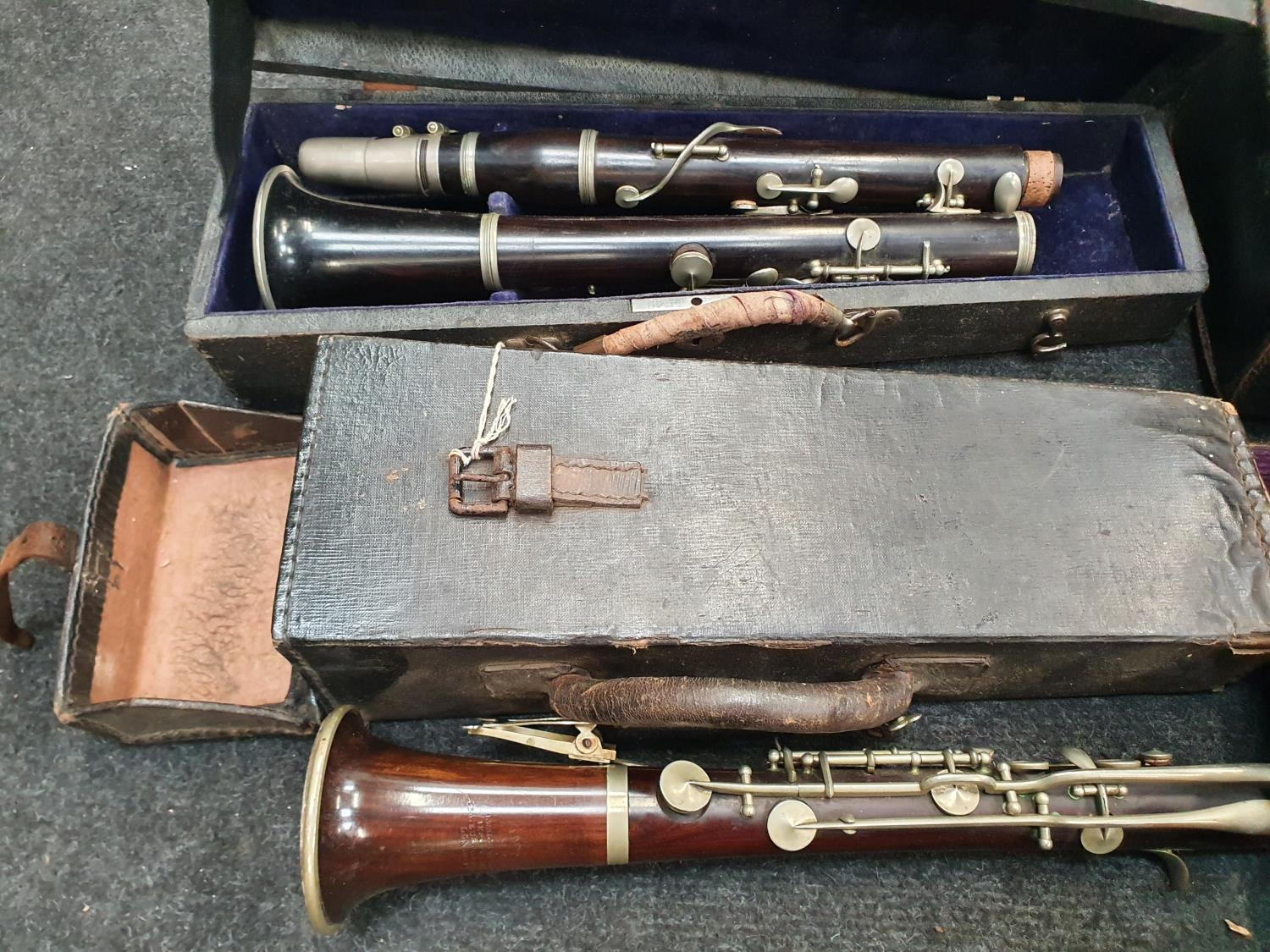 Case of vintage clarinets. - Image 4 of 6