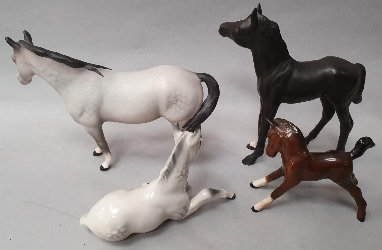 Four assorted Beswick horses. - Image 3 of 6