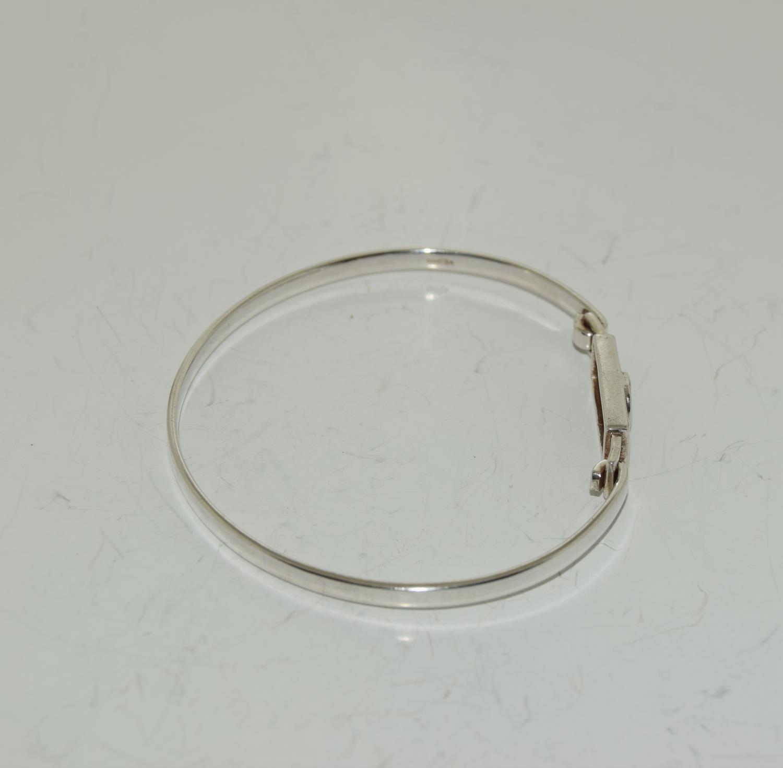 Mackintosh Scottish Rose 925 silver bangle. - Image 2 of 3