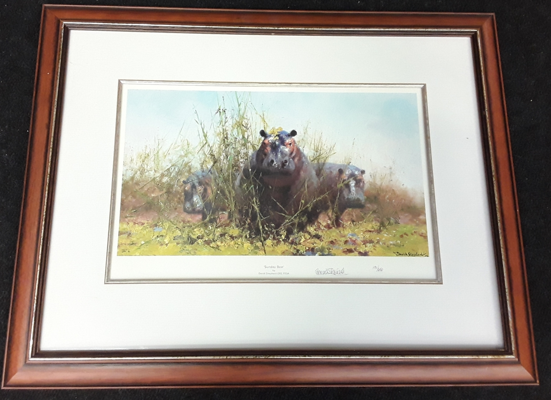 "David Shepherd ""Sunday Best"" embossed stamp Limited Edition 191/650 with COA, framed & glazed"