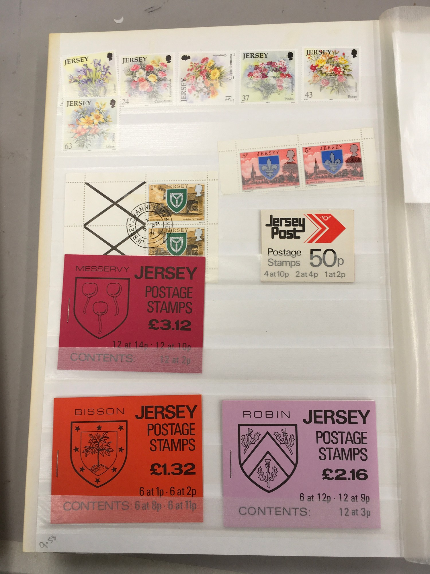 3 x Albums containing Channel Islands, Jersey Guernsey and Alderney over £800 in mint stamps. - Image 13 of 21