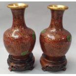 Pair of Cloisonné vases.