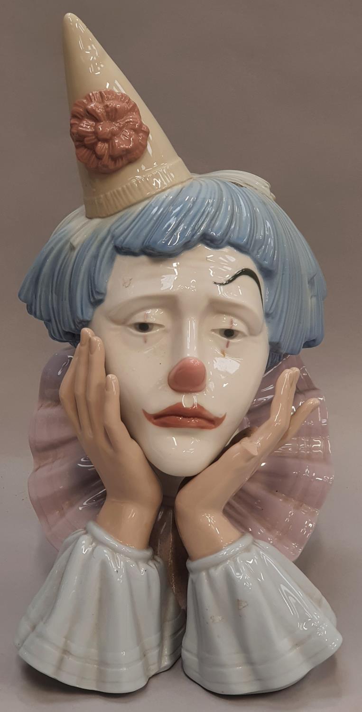 Lladro clown head 31x16x15cm.