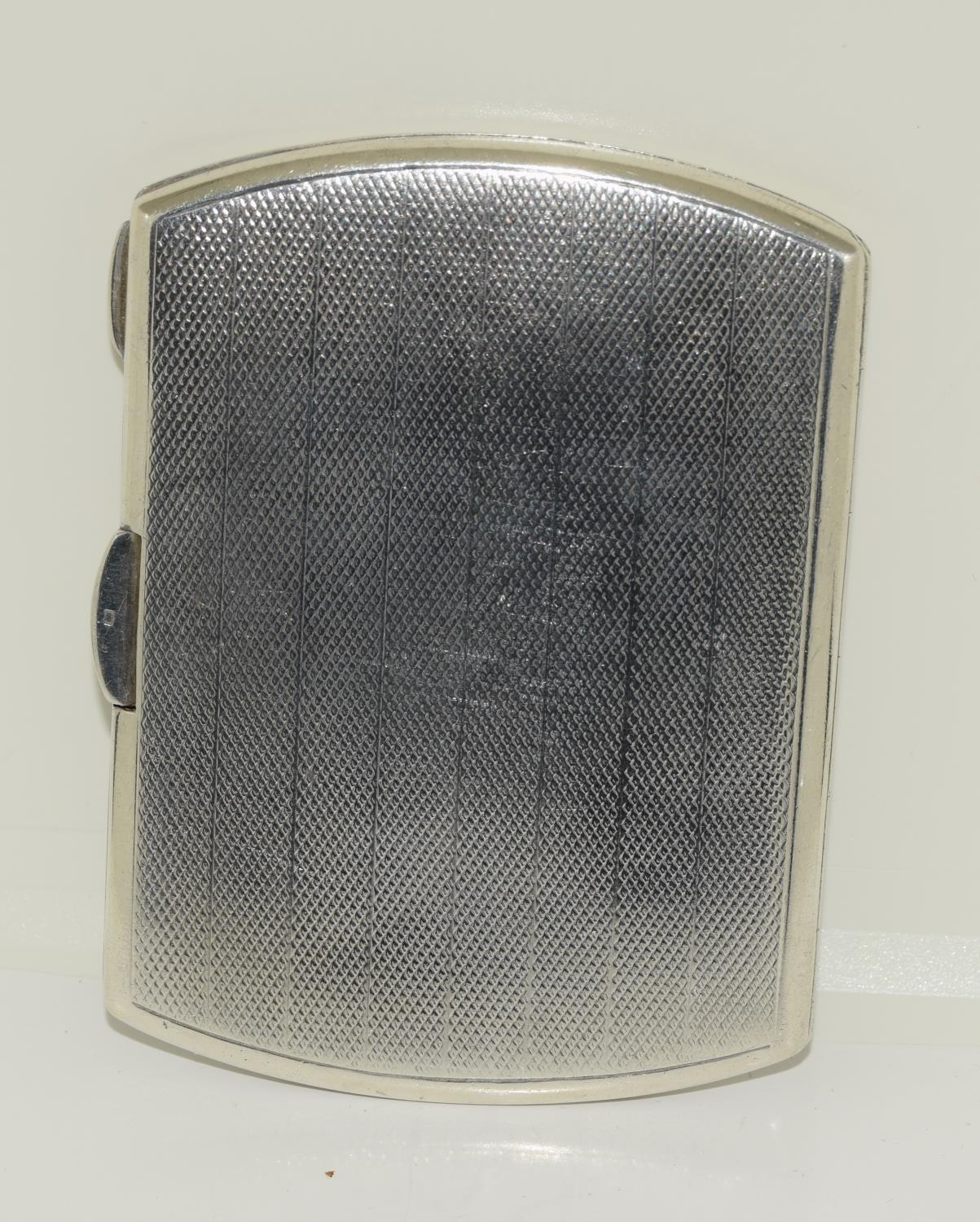 A silver case 1923 with semi nude enamel plaque. - Image 2 of 4