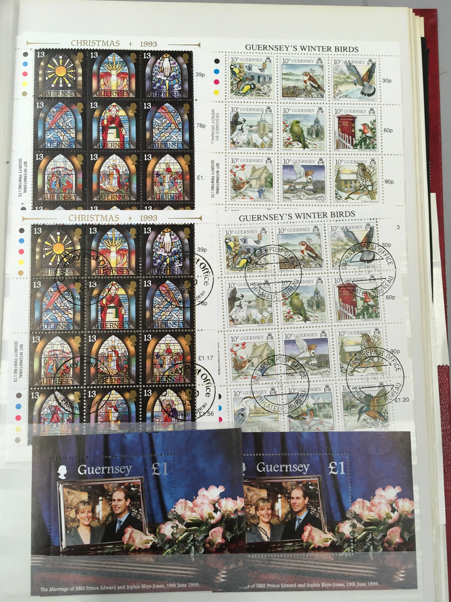 3 x Albums containing Channel Islands, Jersey Guernsey and Alderney over £800 in mint stamps. - Image 7 of 21