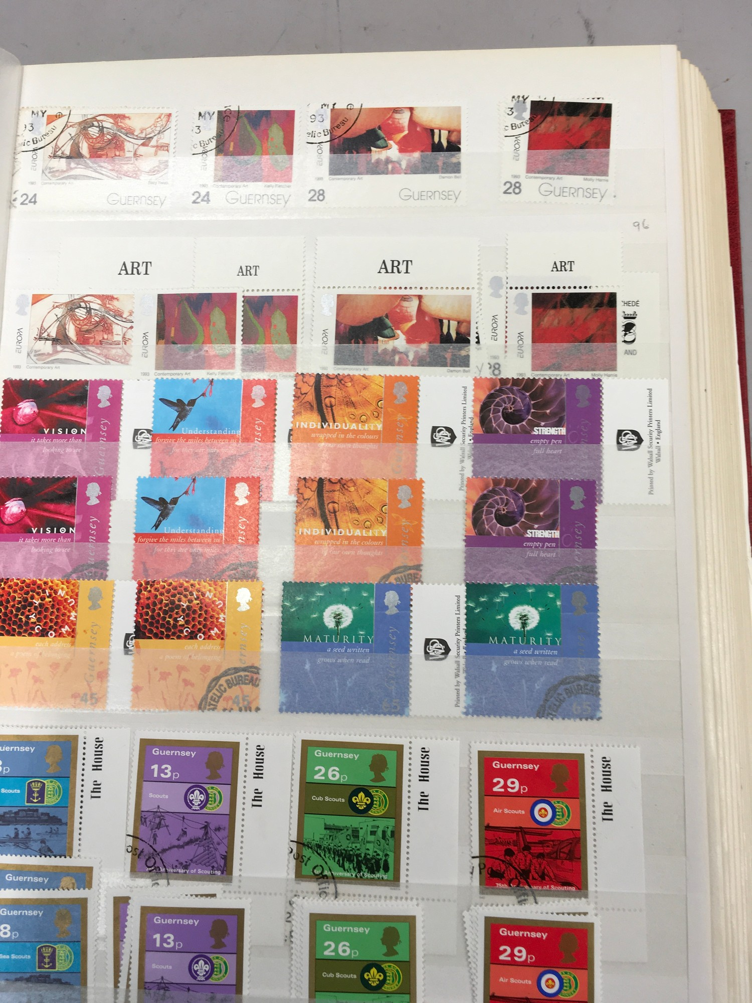 3 x Albums containing Channel Islands, Jersey Guernsey and Alderney over £800 in mint stamps. - Image 4 of 21