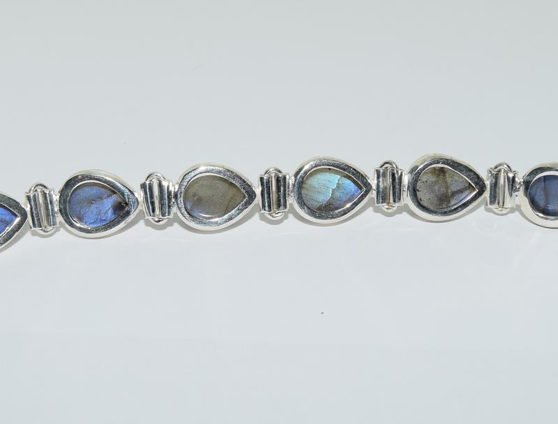 A Silver Labradorite bracelet. - Image 3 of 4