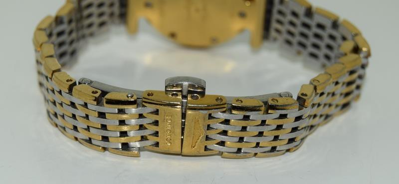 Bi metal ladies Longines watch on integeral strap - Image 4 of 6