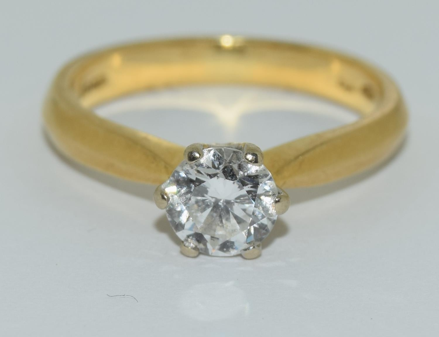 An 18ct white gold ladies diamond solitaire ring 0.75ct Approx., Size M. - Image 6 of 6