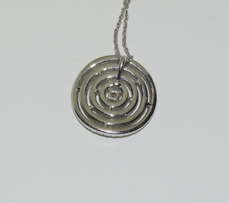 18ct diamond pendant - 1ct. - Image 3 of 4