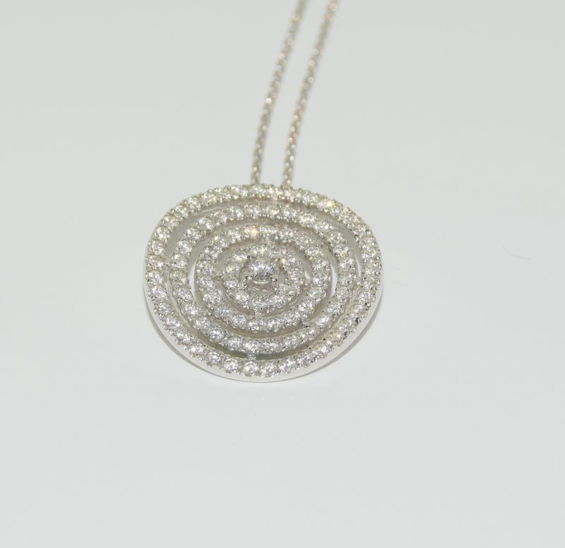 18ct diamond pendant - 1ct.
