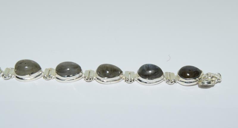 A Silver Labradorite bracelet. - Image 2 of 4