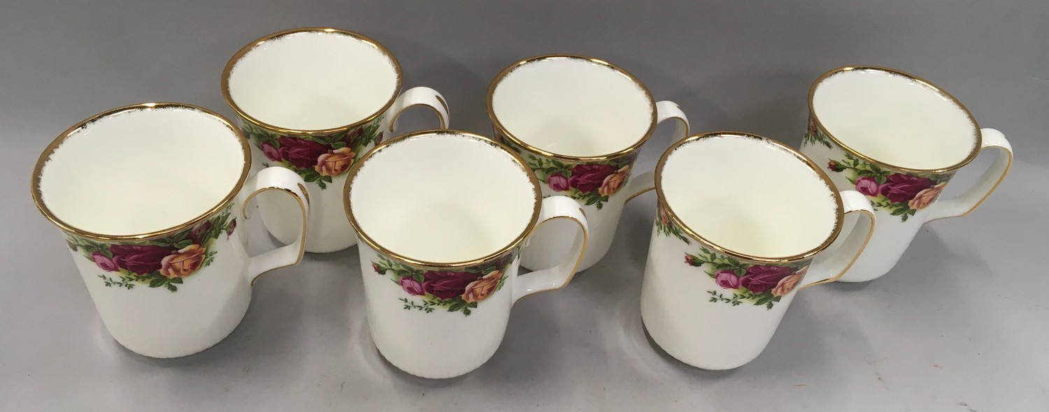 """Royal Albert """"Old Country Roses"""" coffee set to include coffee pot (12) - Image 2 of 4"""