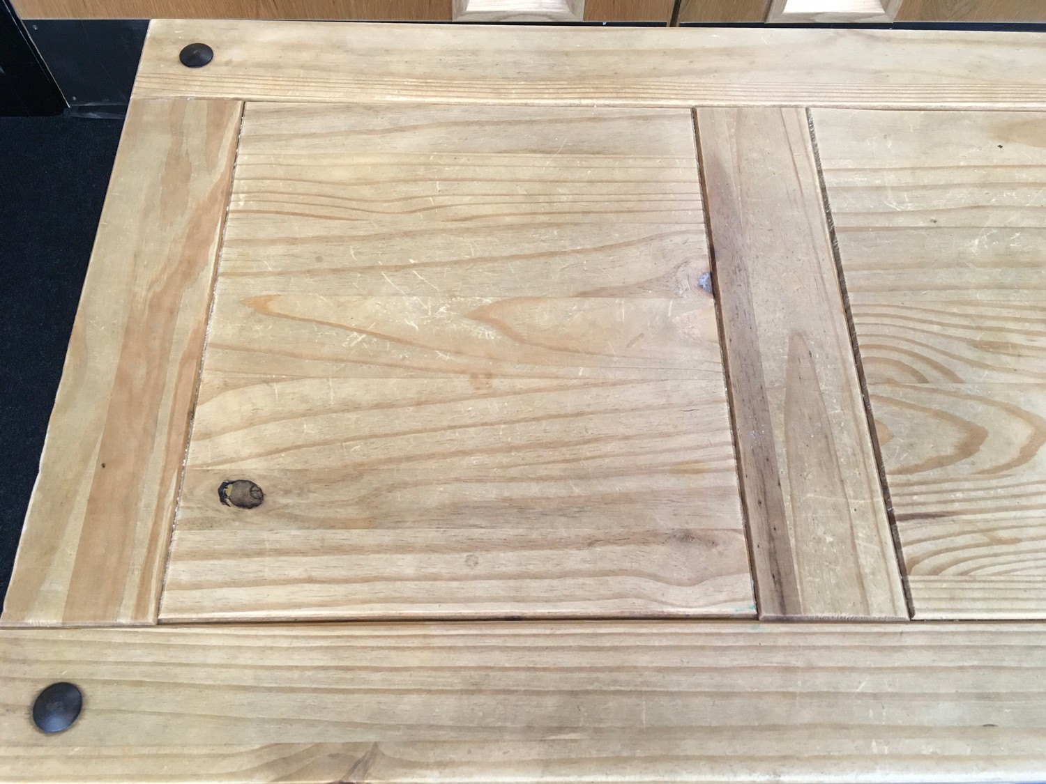 Mexican Pine modern coffee table 60x100x45cm. - Image 2 of 4