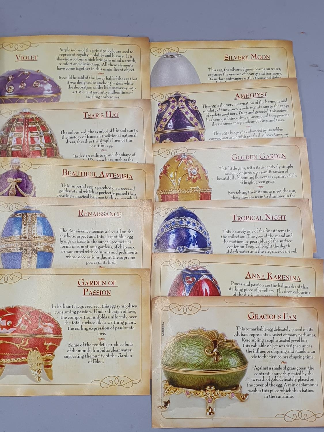 A large collection of Atlas History of Faberge eggs spoons. - Image 4 of 4