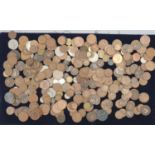 A collection of mixed mainly British coinage.