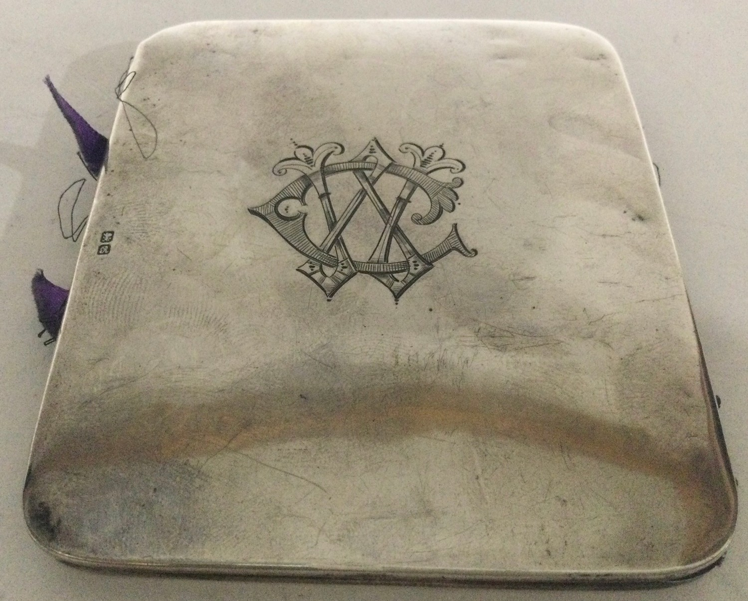 Silver money wallet or card wallet Chester 1917