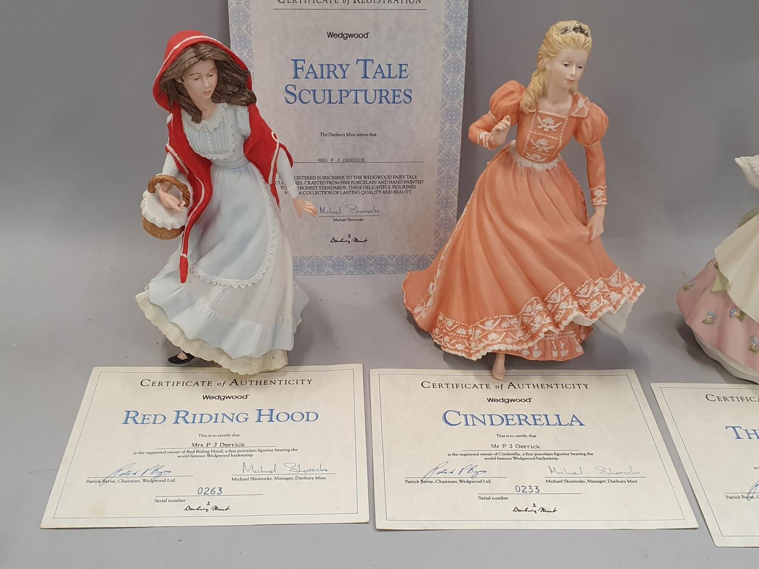 Wedgwood fairy tale figurines x 3 with certificates. - Image 2 of 4