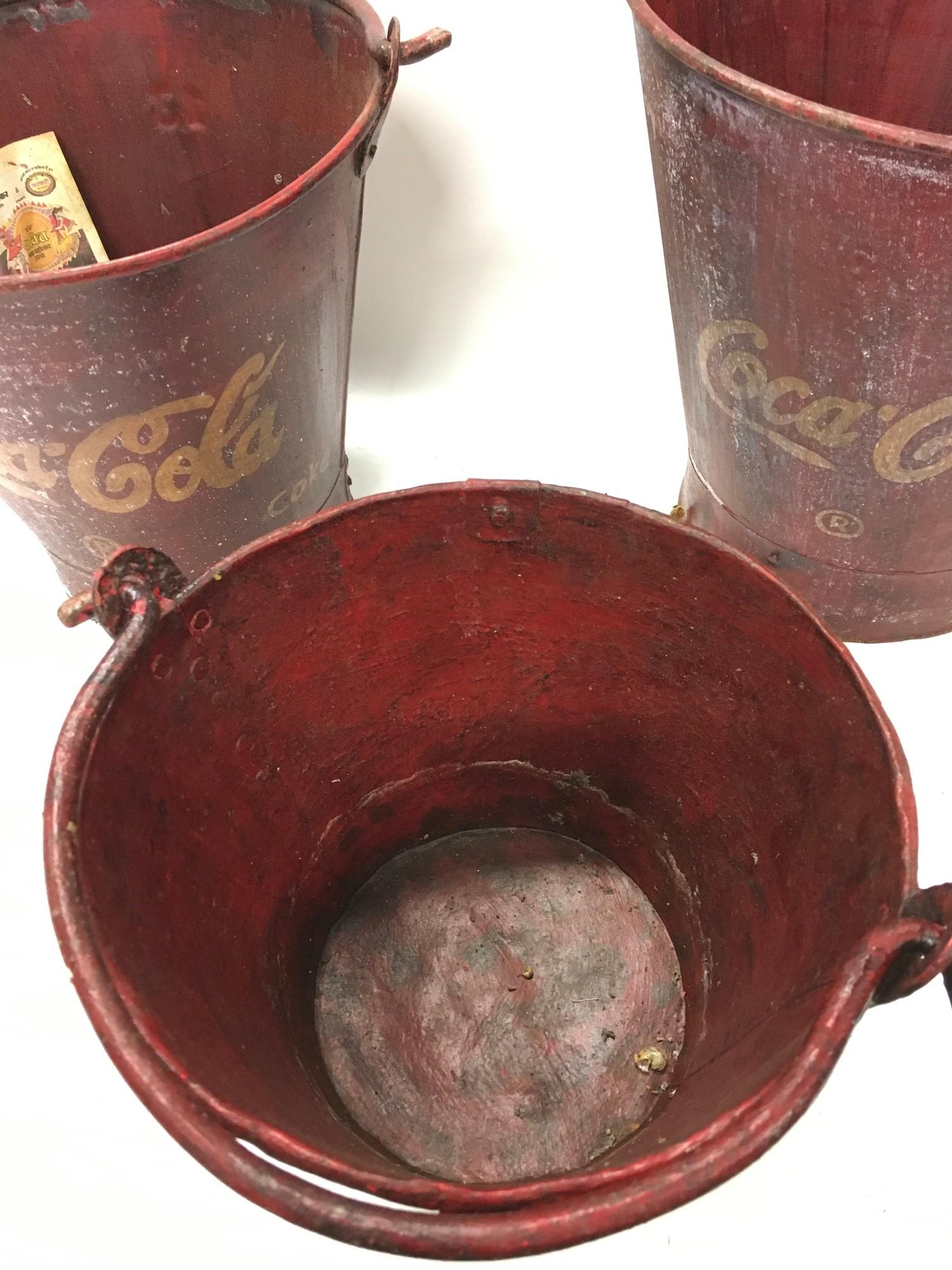 A set of three Coca Cola buckets.(ref 252) - Image 2 of 2