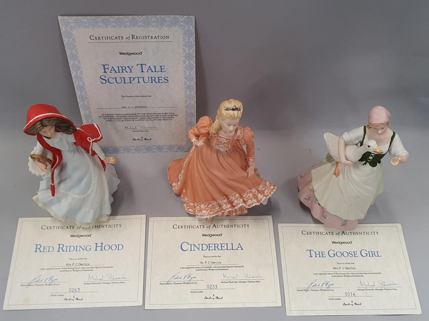 Wedgwood fairy tale figurines x 3 with certificates. - Image 4 of 4
