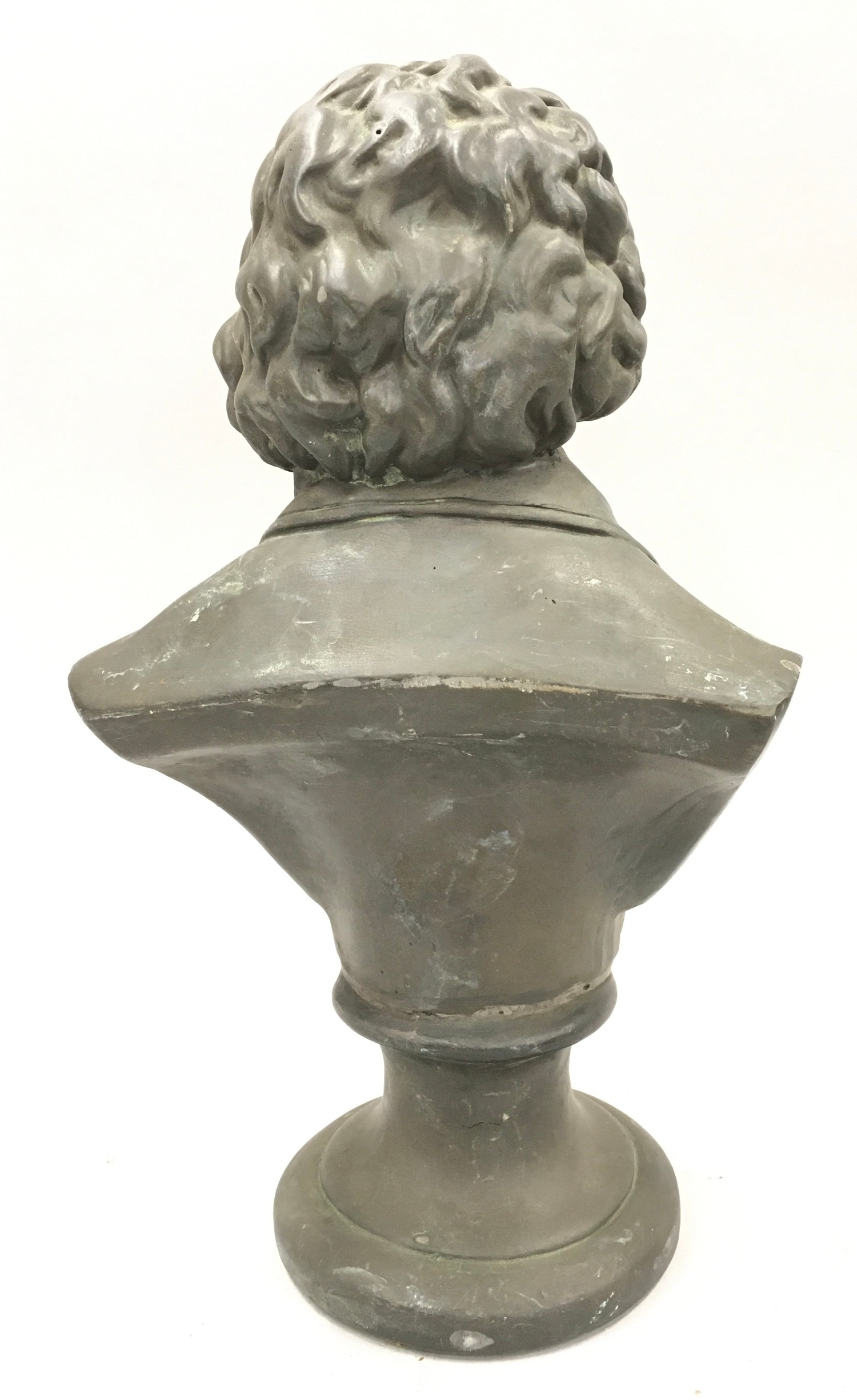 Cast metal bust of Beethoven 33cm tall - Image 3 of 4