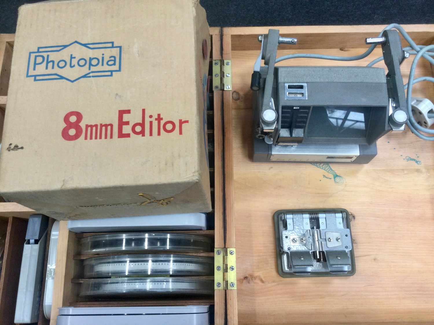 Large collection of vintage 1960?s and 70?s home movies with splicer and viewer found in two - Image 2 of 4