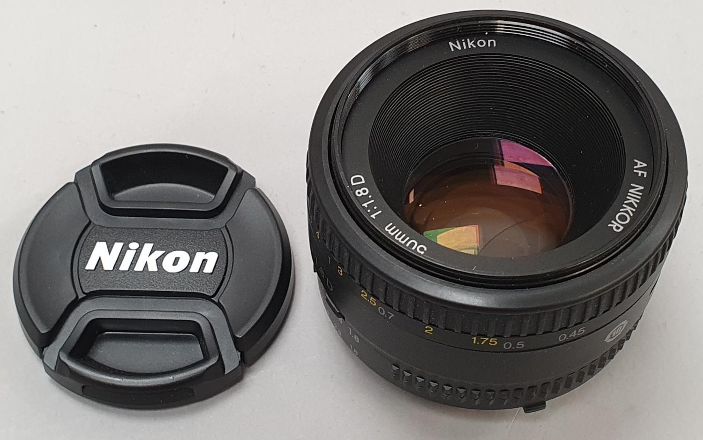 Nikon 50mm camera lens