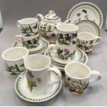 Portmerion Botanic Gardens tea set to included t pot milk and sugar cups and saucers etc (23)