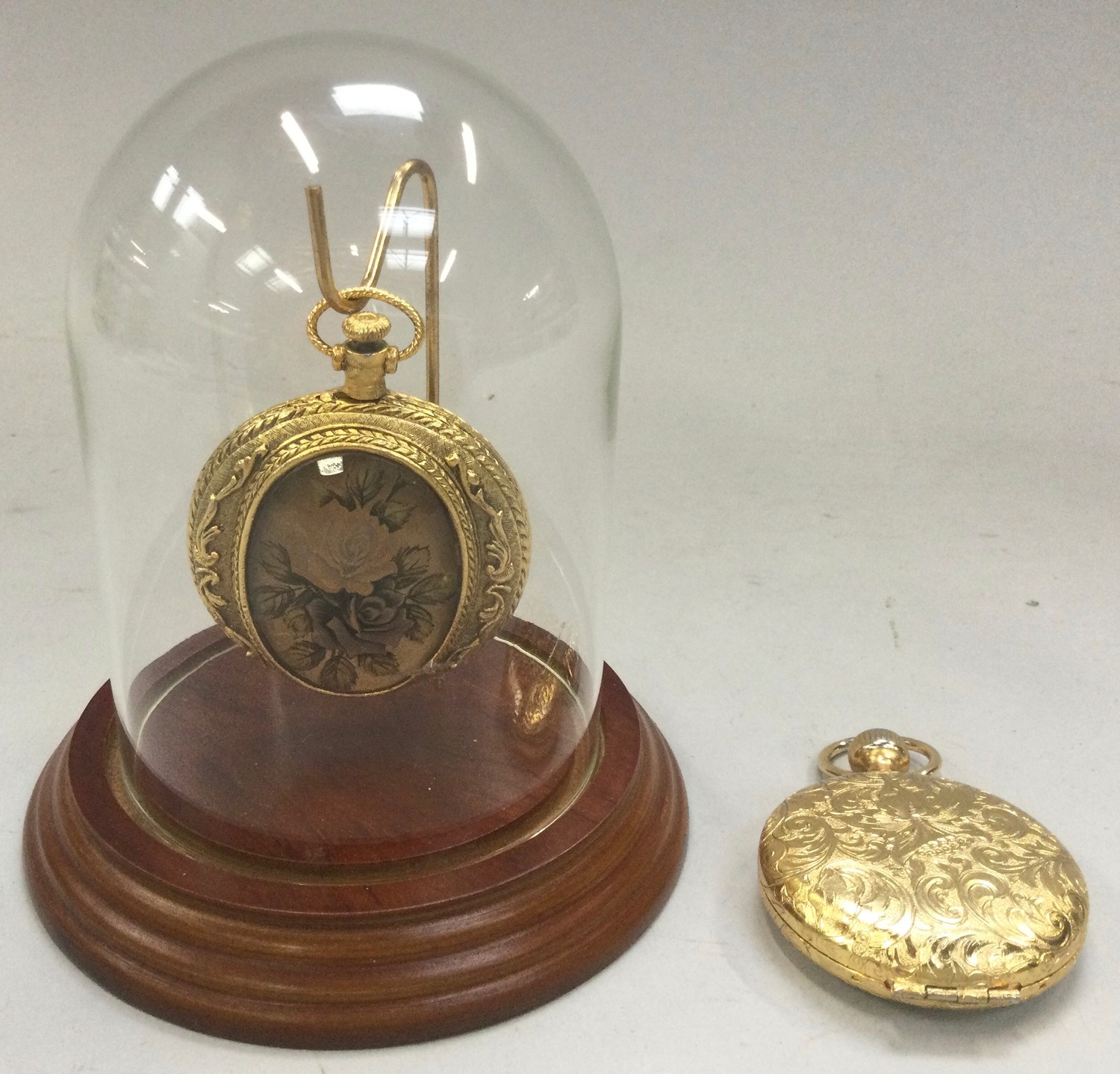 Two novelty ladies powder compacts in the form of pocket watches to include one with dome (2). - Image 2 of 2