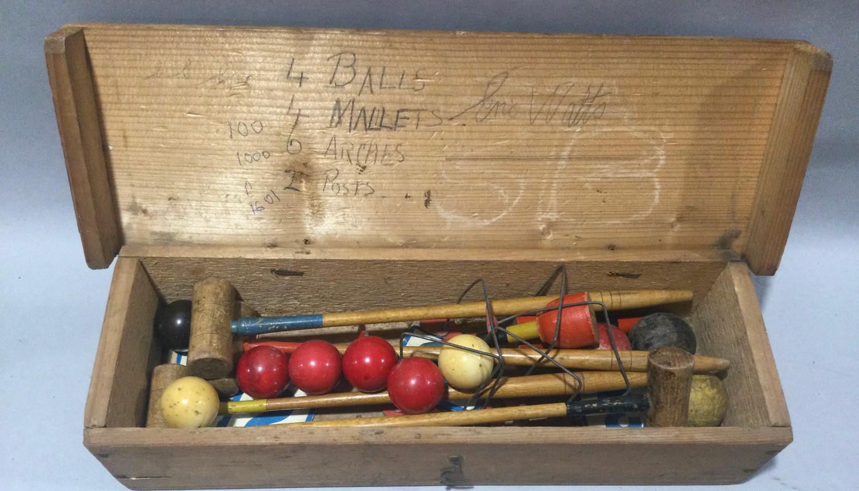 Vintage indoor croquet set. - Image 2 of 2