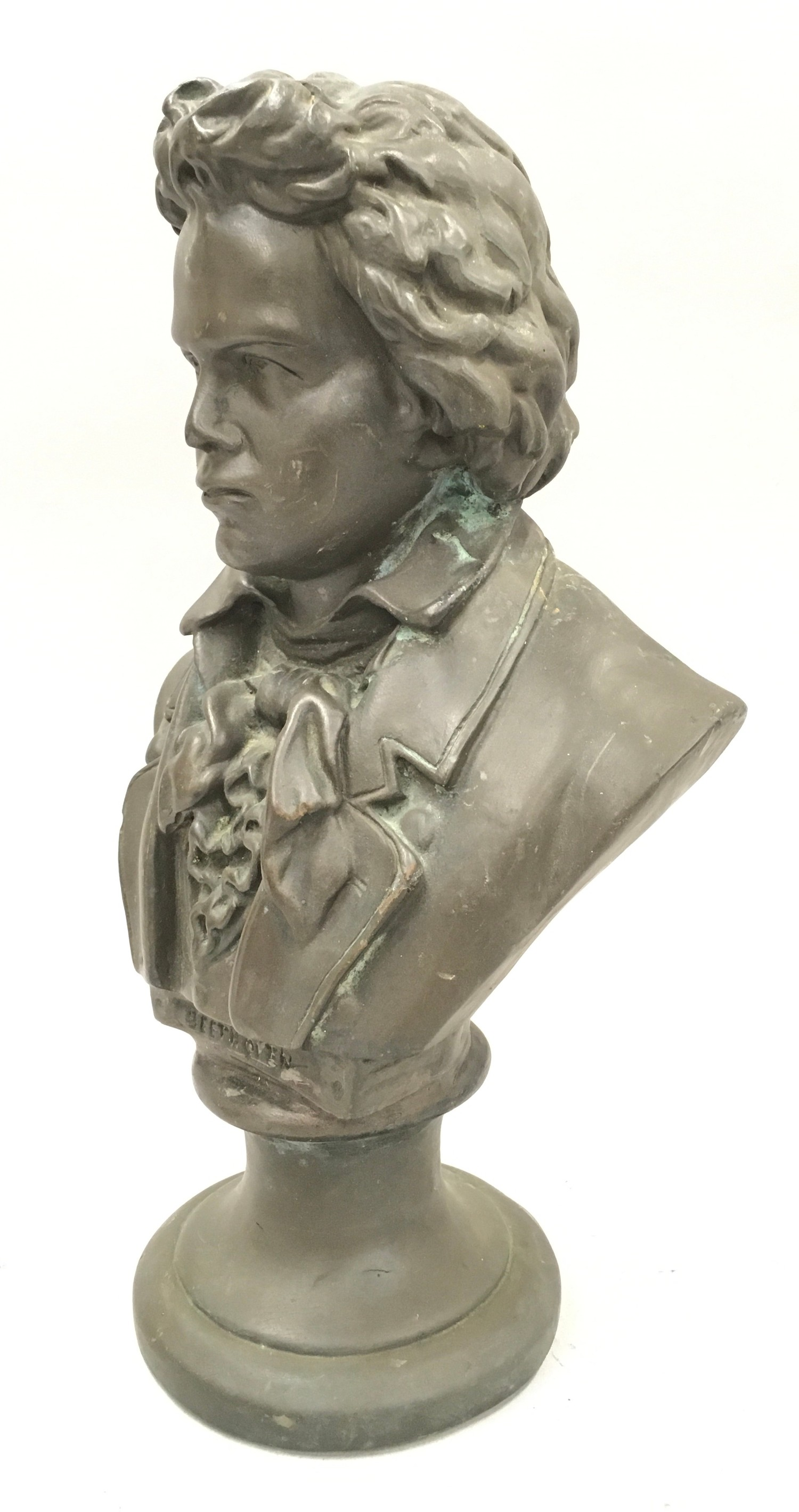 Cast metal bust of Beethoven 33cm tall - Image 4 of 4