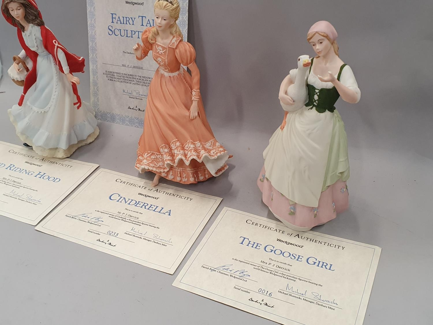 Wedgwood fairy tale figurines x 3 with certificates. - Image 3 of 4