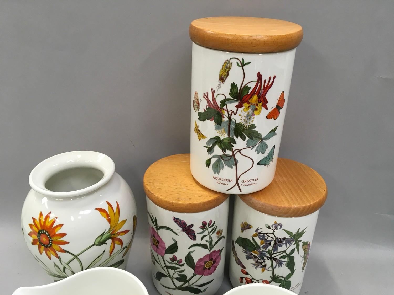 Portmerion Botanic Gardens storage jars, vase ,jugs ,coasters etc (13) - Image 3 of 4
