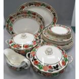 """Wilkinson and co """"Windsor"""" dinner service to included tureens and gravy boat"""