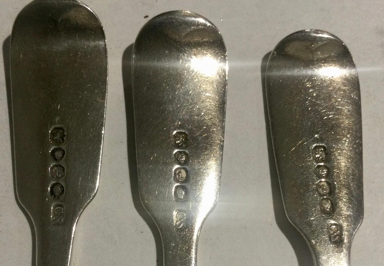 6 William IV silver desert forks London 1834 280gm - Image 3 of 4