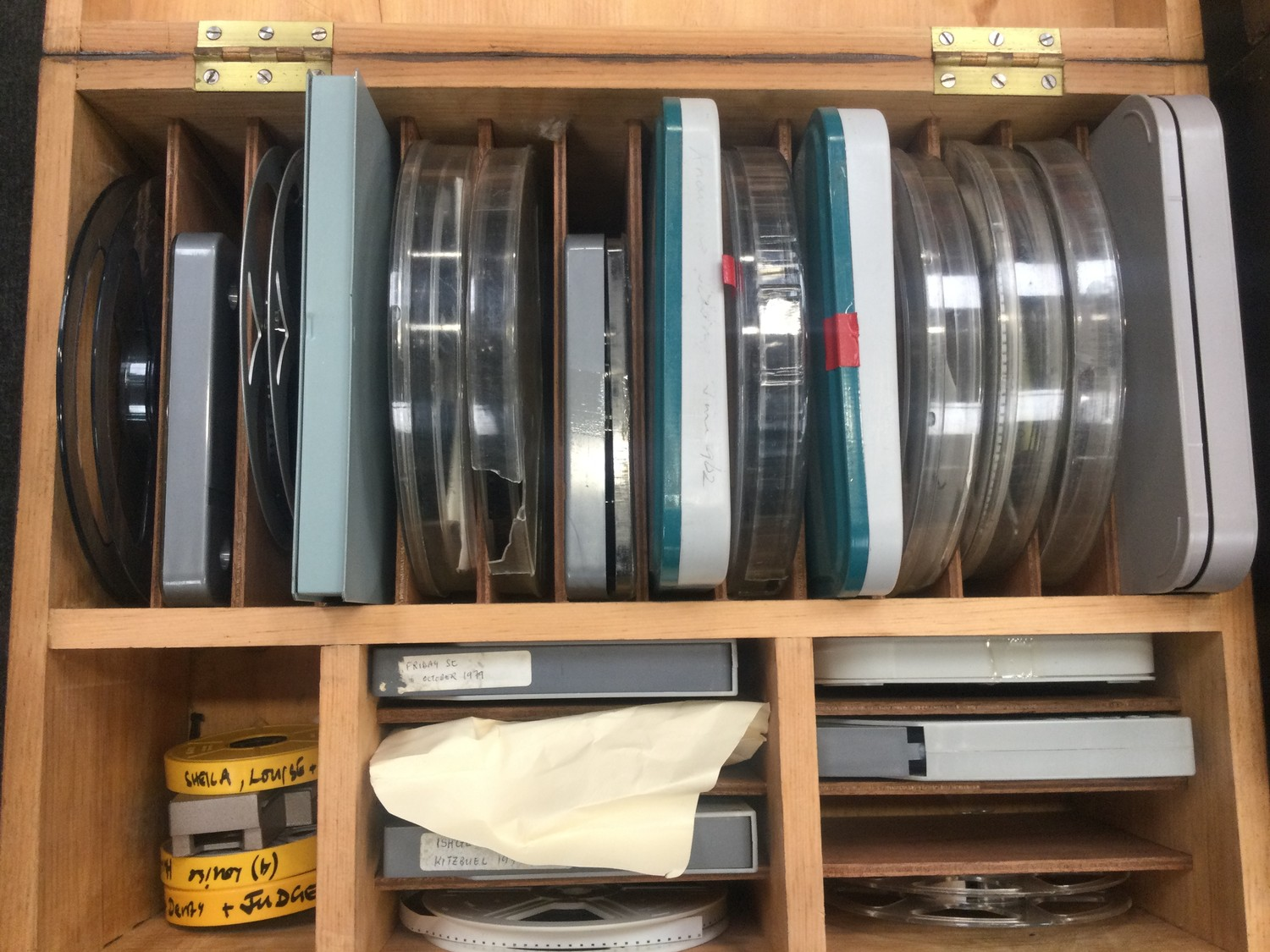 Large collection of vintage 1960?s and 70?s home movies with splicer and viewer found in two - Image 4 of 4
