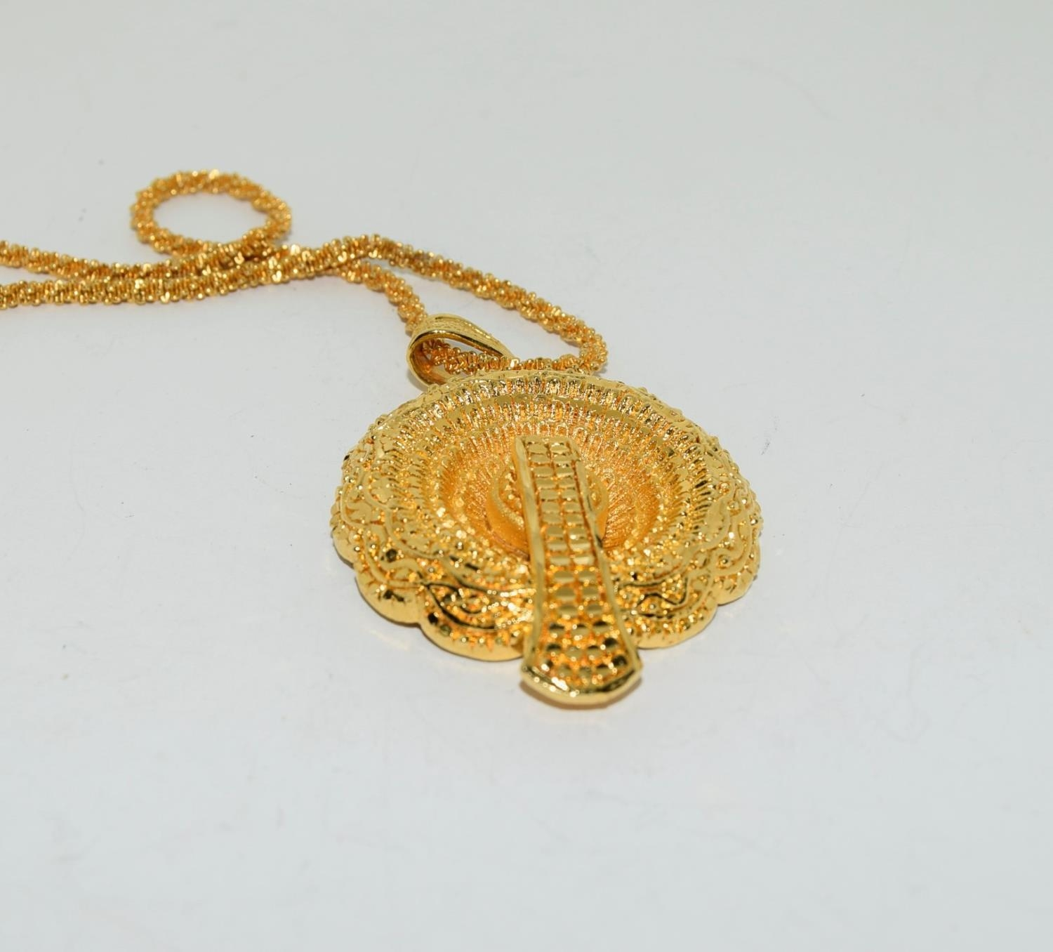 Asian 22ct plated suite of jewellery. - Image 4 of 4