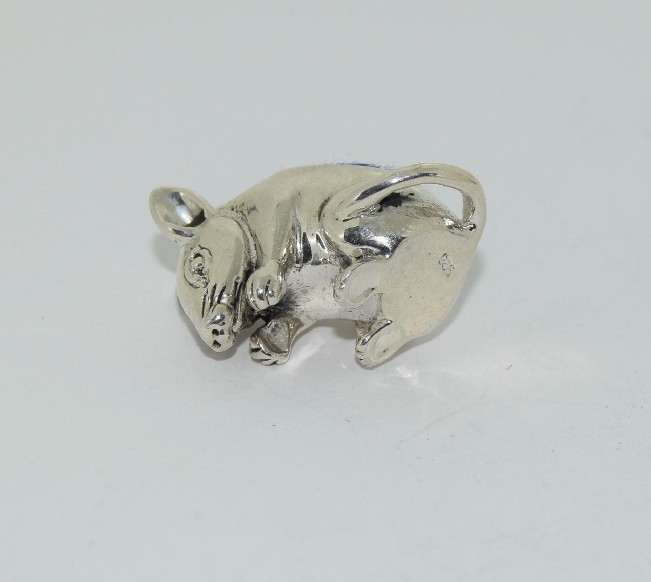 A silver mouse pincushion stamped 925 - Image 4 of 4